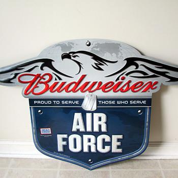 Budweiser Air Force Sign