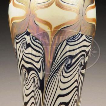 Rare Trevaise Iridescent Art Glass Vase (1907).