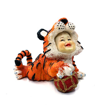 Tiger Figurine with babies face - Figurines