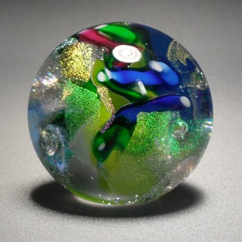 Glass Eye Studios Round Paperweight GES 99 - Art Glass