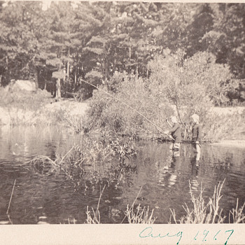 Our relatives fishing 1917 - Photographs