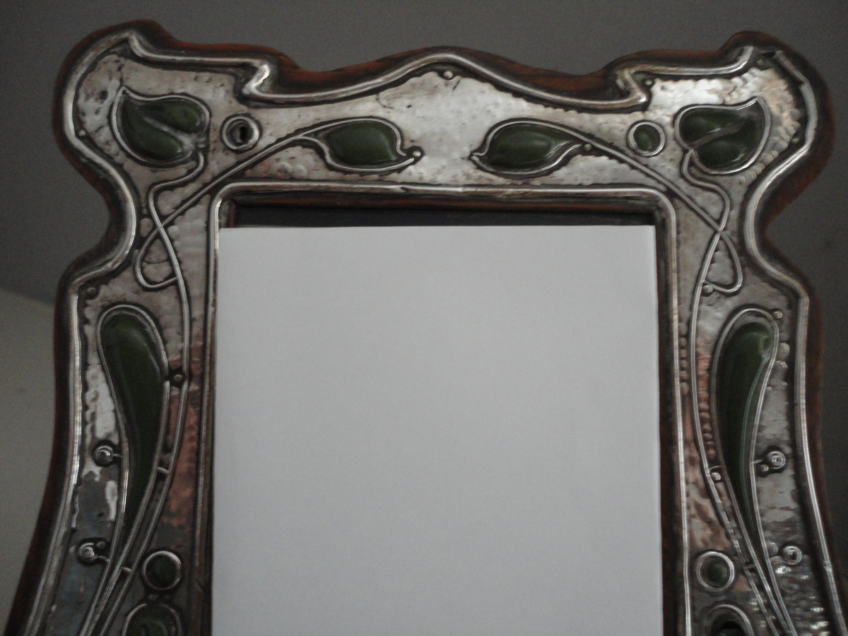 Art nouveau silver and enamel picture frame by Charles S Green & Co ...