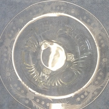 """12 1/2"""" Footed Glass Bowl - Glassware"""