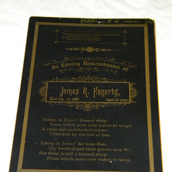Antique Funeral Memorial Cabinet Card - Photographs