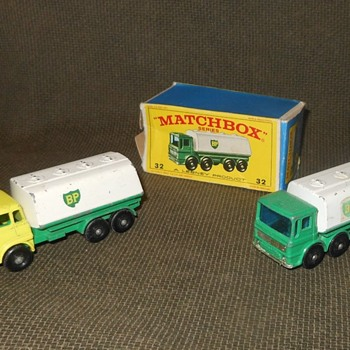 Much More Matchbox Moday MB 25 Bedford Petrol Tanker and MB 32 Leyland Petrol Tanker - Model Cars