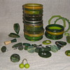 Green bakelite & lucite beauties