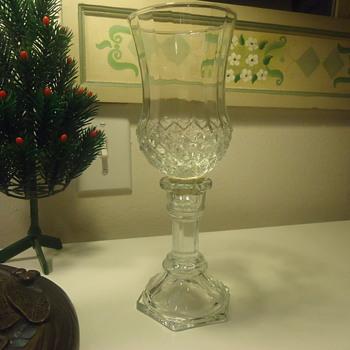 CUT GLASS CANDEL HOLDER