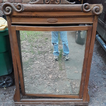 curb find antique mirror in frame  - Furniture
