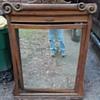 curb find antique mirror in frame