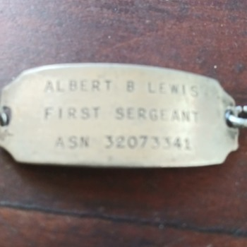 WWII Sterling ID Bracelet - Military and Wartime