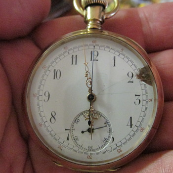 another cool old 1880s patent chronograph - Pocket Watches