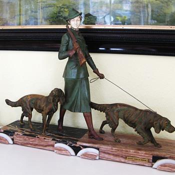 Art Deco Sculpture Woman Hunt 1930
