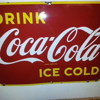 1940's Coca-Cola Kick plate - Coca-Cola