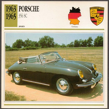 Vintage Car Card - Porsche 356 SC - Classic Cars