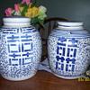 2 chinese happiness jars