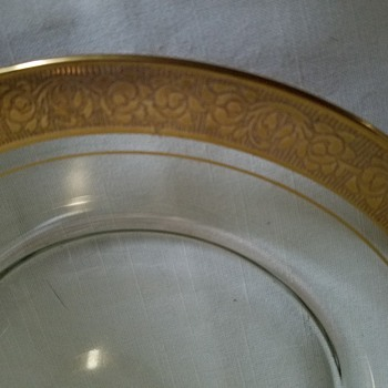Grandmother's gold rimmed dishes - Glassware