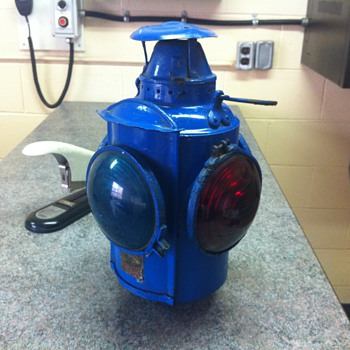 Blue Carmens Lantern - Railroadiana