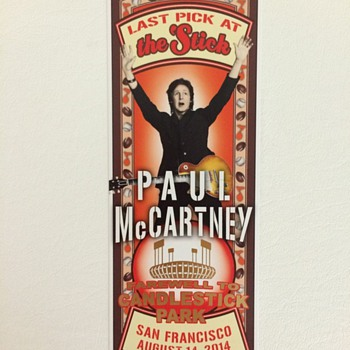 Paul McCartney-Candlestick Park-2014 - Music Memorabilia