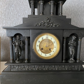 Black mantel clock  - Clocks