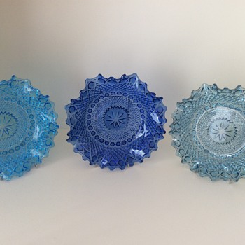 My collection of Sowerby glass plates - Glassware