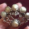 Dorrie Nossiter? Silver and Blister Pearl Brooch