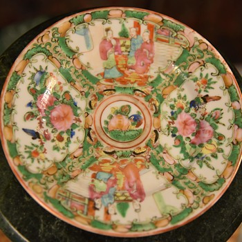 Small Famille Rose Plate - People's Republic? - Asian