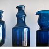 12 parts of the Blue Series - Bertil Vallien, Boda-Åfors 1960s.