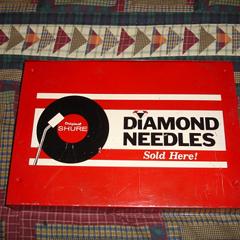 Diamond Needles (Original Shure) Metal Drawer I found  - Music Memorabilia