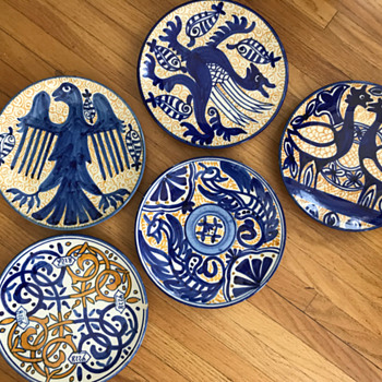 Handpainted plates from Spain - Pottery