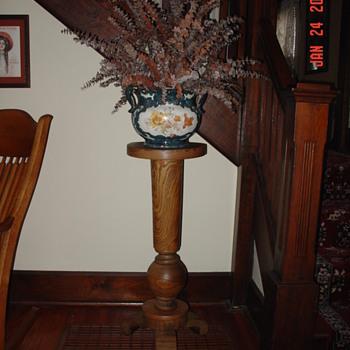 1904 Oak Fern Stand - Furniture