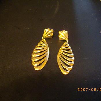 18KT Designer Angel Wing Earrings - Fine Jewelry