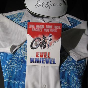 Evel Knievel . . . Personal Iolani Hawaiian Shirt & Signed Helmet - Mens Clothing