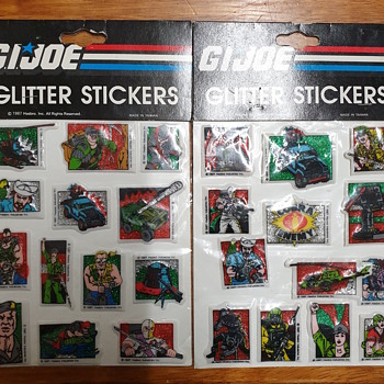 GI Joe glitter stickers 1987 - Toys