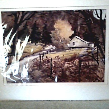 2 Bette G. Elliott Watercolors /Unframed, Matted, Sealed /Circa 1960's-70's ? - Fine Art