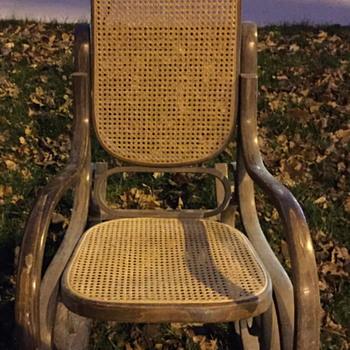 Mid century modern rocking chair.