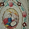 Antique St. Matthias St. Michael Hand Painted And Hand Cut Watercolor Holy Cards In Frame