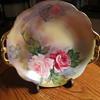 "Noritake Green ""M"" in the Wreath Gold Handle Bowl 9"""
