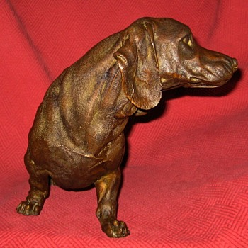 Bronze Dachshund Sculpture - Animals