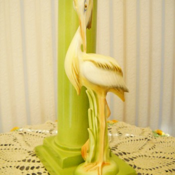 50's Clay Sketches California Egret Vase - Pottery