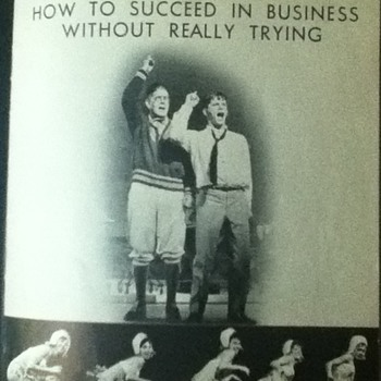 """""""How To Succeed In Business Without Really Trying"""" Vintage Playbill - Paper"""