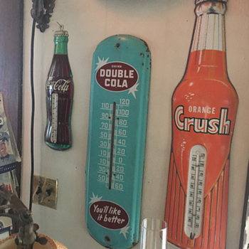 1944 Drink Double Cola thermometer  - Advertising