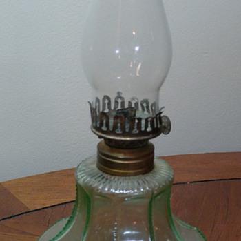 Uranium Glass Oil Lamp