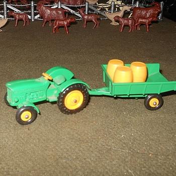 Modern Mechanical Matchbox Monday MB 50 & MB 51 John Deere Tractor & John Deere Trailer - Model Cars