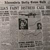 Emelia Earhart Front Page Article