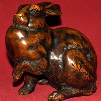 Antique Cast Iron Japanese Hare #2 - Animals