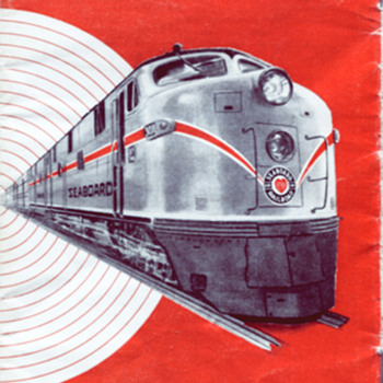 April 26, 1964 Seaboard Air Line RR Passenger Schedule - Railroadiana