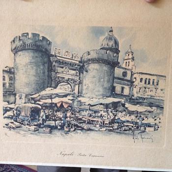 Vintage Print Napoli Porta Capuana