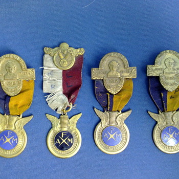 FAM  Award Medals 1911 and 1912 - Medals Pins and Badges