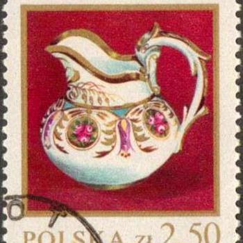 """Poland - """"Korzec Porcelain"""" Postage Stamp - Stamps"""