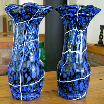 Pair Of Kralik Spatter Vases - Art Deco